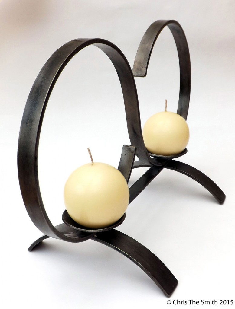 Lemniscate Double Candle Holder by Chris Hughes