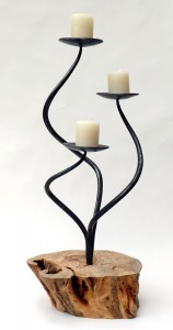Spiralis Triple Plate Candle Holder by Chris Hughes