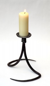 Spiral Top Candlestick by Chris Hughes